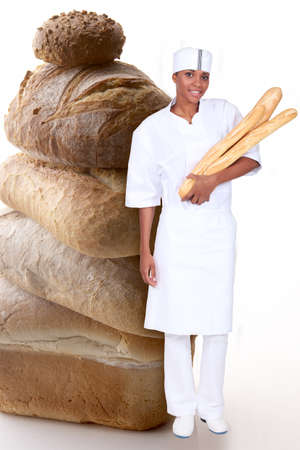 photomontage: Photo-montage of woman baker