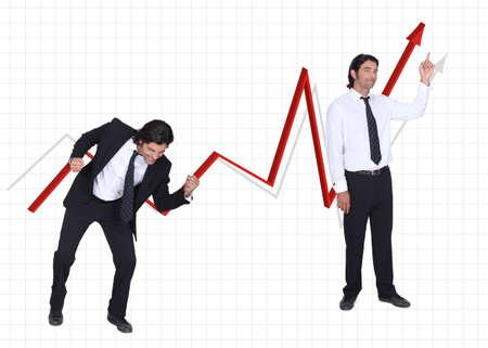 progressively: to the top Stock Photo