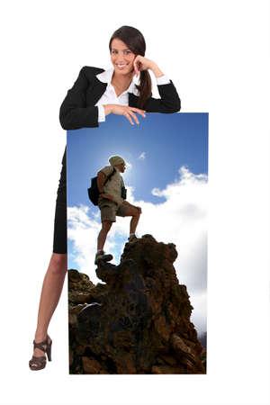 Female travel agent photo