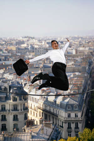 tightrope jumping Stock Photo - 13868192
