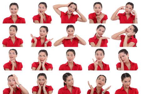 las emociones: Varias im�genes de la misma mujer