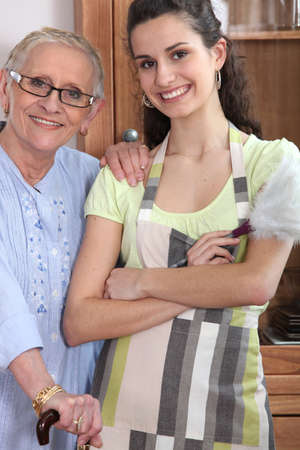 Grandmother and granddaughter Stock Photo - 13863035