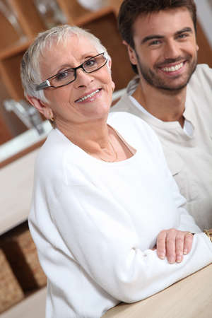 young man with older woman photo