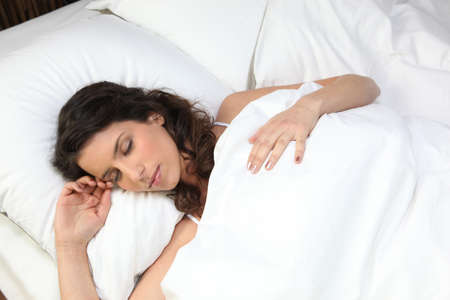recovery position: Woman sleeping
