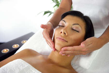 Woman receiving a massage Stock Photo - 13875801