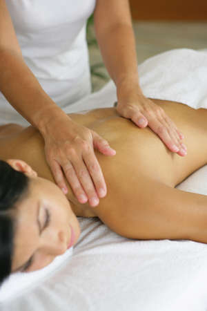 woman having a massage in a spa center Stock Photo - 13876091