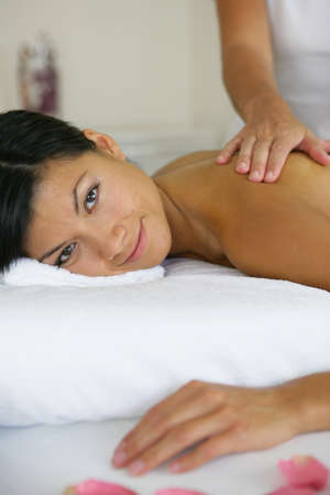 Woman receiving a massage Stock Photo - 13876158