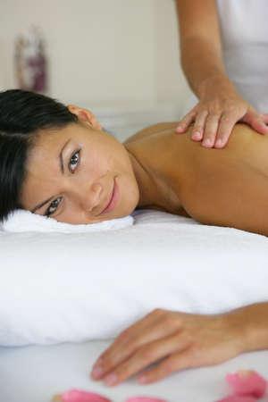 Woman receiving a massage Stock Photo - 13876158