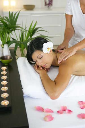 woman having a massage photo