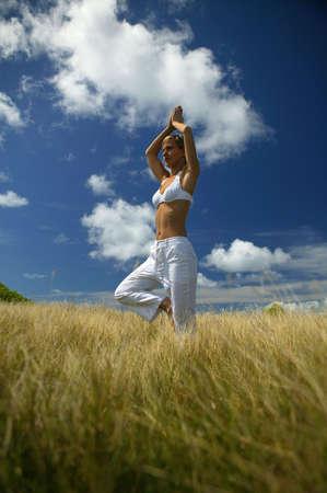 Outdoor yoga Stok Fotoğraf