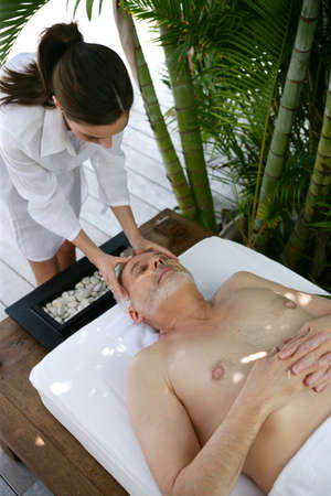 Man enjoying a massage photo