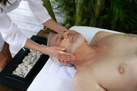 Man receiving a massage Stock Photo - 13875877