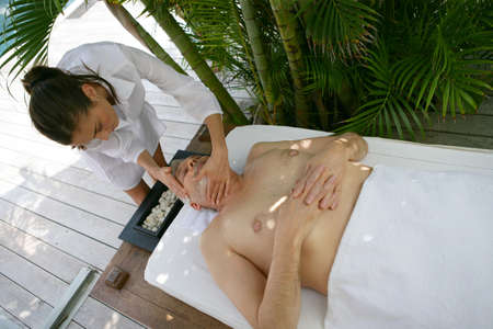 Man having a massage Stock Photo - 13875559
