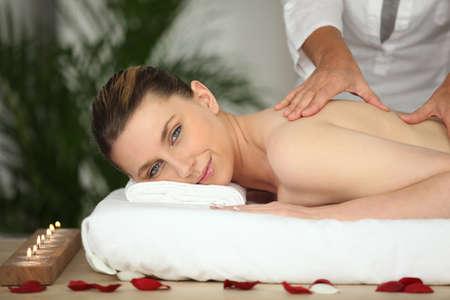 Woman having a massage Stock Photo - 13875584