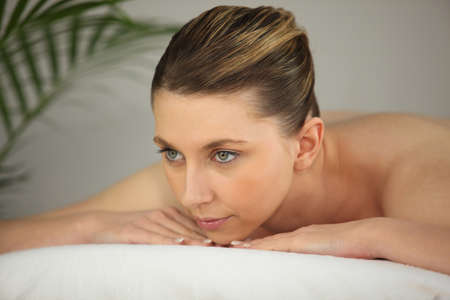 Woman waiting for massage Stock Photo - 13875605