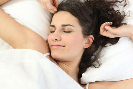 recovery position: Woman waking up
