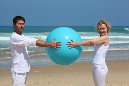 Beach game photo