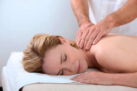 Woman having a massage Stock Photo - 13869267