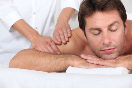 Man receiving shoulder massage Stock Photo - 13869233