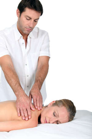 Woman having a massage Stock Photo - 13876162
