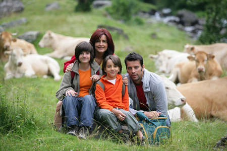 Family portrait in the countryside Stock Photo - 13882171