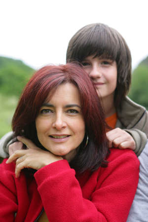 Portrait of a mother and son Stock Photo - 13880912