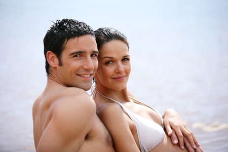 couple at the seaside photo