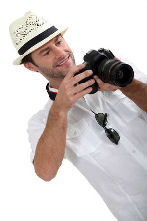 man with DSLR camera Stock Photo - 13883194