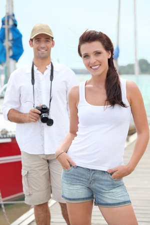 couple on holidays by sea photo