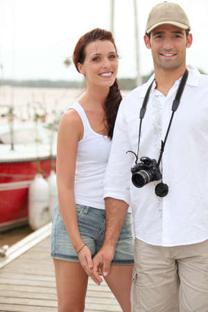 Tourist couple Stock Photo - 13883568