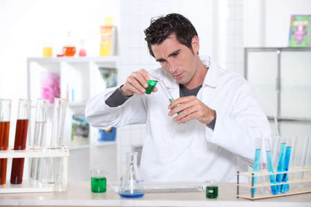 Student in laboratory Stock Photo - 13905490