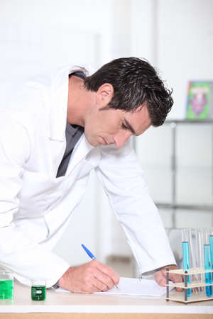 Scientist working in laboratory photo