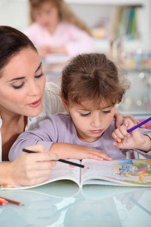 nanny: Nanny and little girl