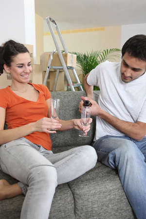Couple celebrating new home Stock Photo - 13914583