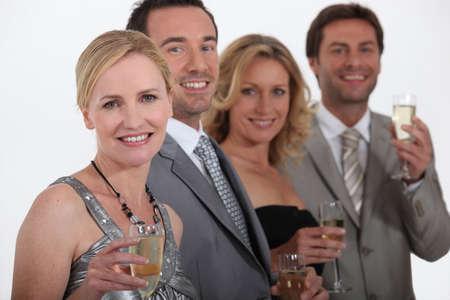 social event: Men and women celebrating