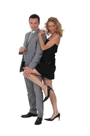 Couple à une fête Banque d'images - 13904191