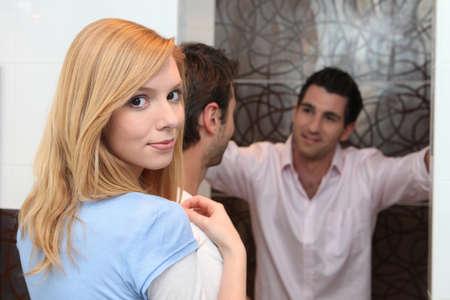 come in: Men receiving partner