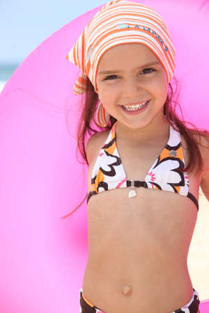 child swimsuit: girl in bikini