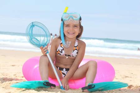 Girl on the beach Stock Photo - 13962089