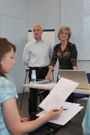 University lecture photo