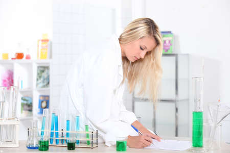 young girl in a lab Stock Photo - 13962406