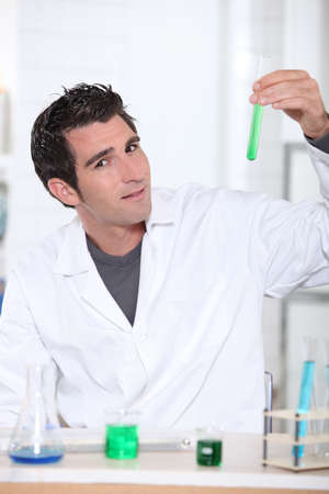 blending: Man in lab