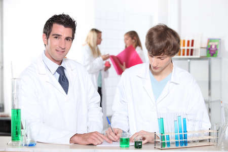male chemists in lab photo