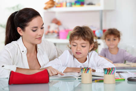 teaching and learning: Primary school Stock Photo