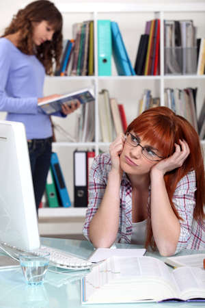 Girls studying Stock Photo - 13974407