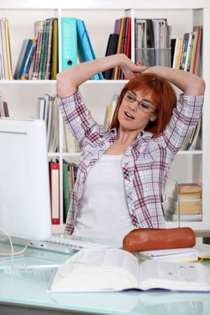 Student in a library Stock Photo - 13960051
