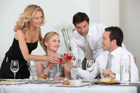 dinner party people: Special Celebration Stock Photo
