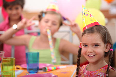 kids party: Little girl birthday party Stock Photo