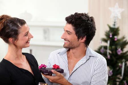 Couple at Christmas photo
