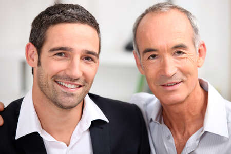 mature old generation: Father and son business team